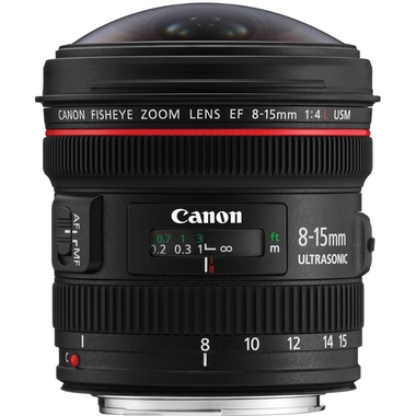 Canon - EF 8-15mm f/4L Fisheye USM